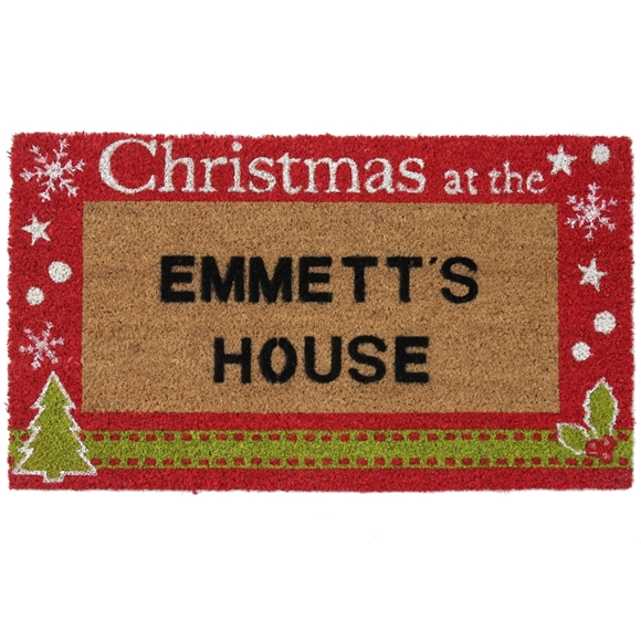 Picture of Personalised Christmas Stenciled Coir - Christmas at  40x70cm