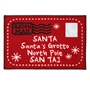 Picture of Christmas Machine Washable Mat  - Red Santa Letter  40x60cm