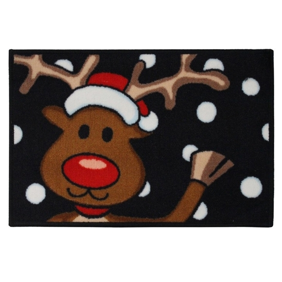 Picture of Christmas Machine Washable Mat  - Reindeer  40x60cm