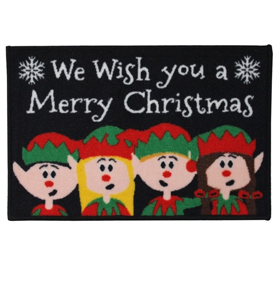 Picture of Christmas Machine Washable Mat  - Elf  40x60cm