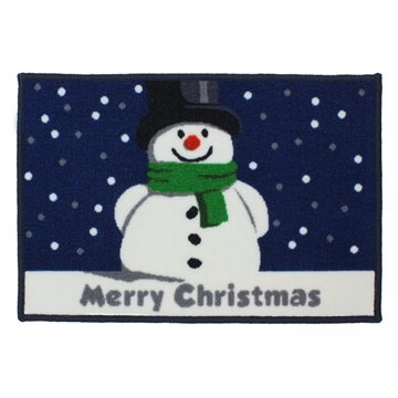 Picture of Christmas Machine Washable Mat  - Snowman 40x60cm