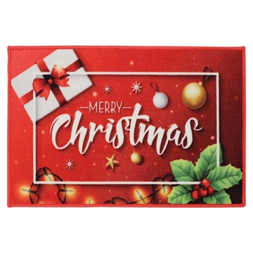 Picture of Christmas Machine Washable Mat  - Merry Christmas 50x75cm
