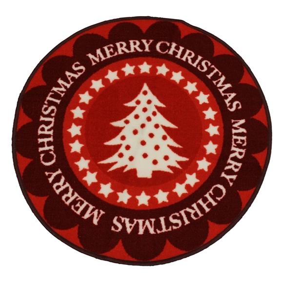 Picture of Christmas Machine Washable Tree Mat  - Red Tree 80cm