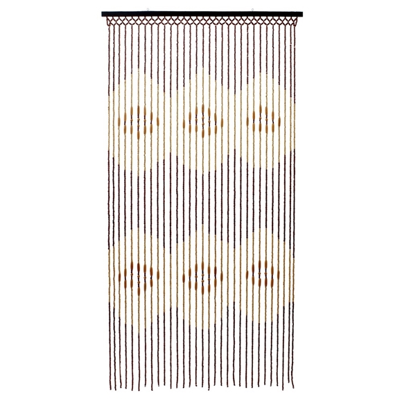 Picture of Tuscany Hanging Wooden Beaded Door Curtain Screen