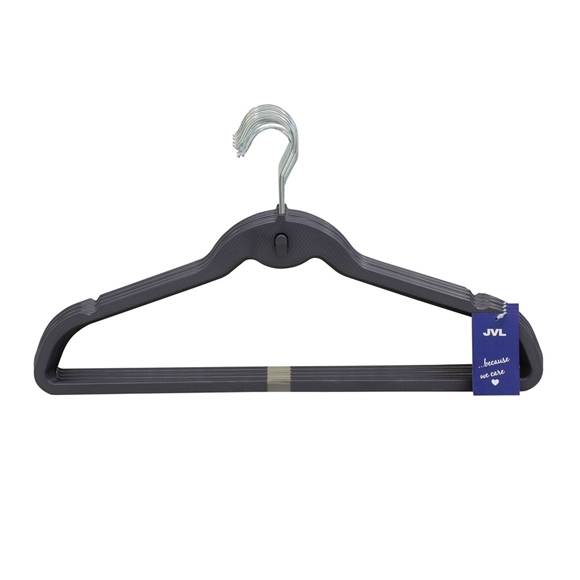 Picture of 40PK Plastic Clothing Hangers - Shadow Blue