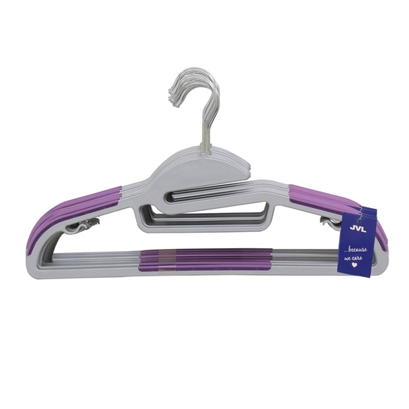 Picture of 40PK S-Shaped Plastic Clothing Hangers - Purple