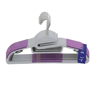 Picture of 100PK S-Shaped Plastic Clothing Hangers - Purple