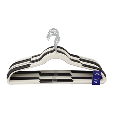 Picture of 20PK Plastic Clothing Hangers - Assorted Black/White