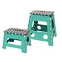 Picture of Small and Large Step Stool - Turquoise
