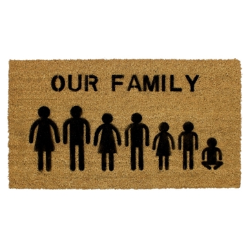 Picture of Personalised Stenciled Coir - Family  40x70cm