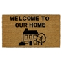 Picture of Personalised Stenciled Coir - House Centre  40x70cm