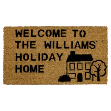 Picture of Personalised Stenciled Coir - House Right  40x70cm