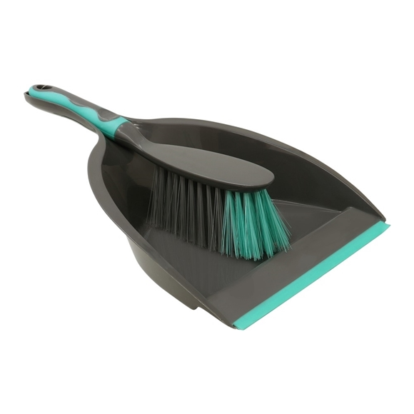Picture of Deluxe Dustpan and Brush Set - Grey