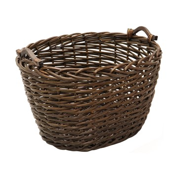 Picture of Oval Dark Log Basket