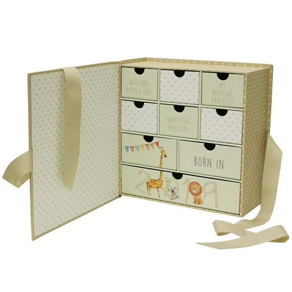 Picture of Born in 2019  9 Drawer Keepsake Box