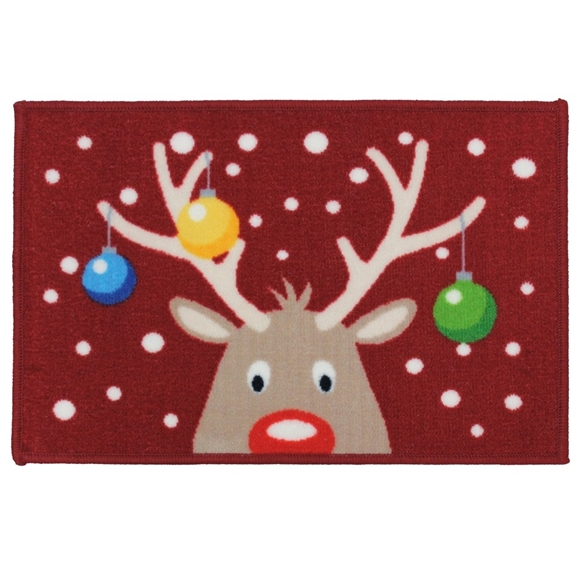 Picture of Christmas Machine Washable Mat - Reindeer Antlers 40x60cm