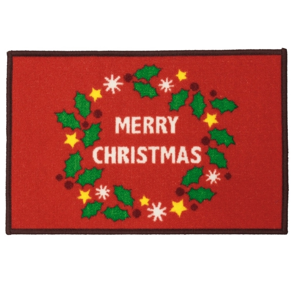 Picture of Christmas Machine Washable Mat  - Red Merry Christmas 40x60cm