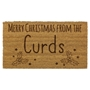Picture of Personalised Christmas Laser Coir - Holly 40x70cm