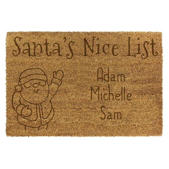 Picture of Personalised Christmas Laser Coir - Nice List 40x70cm