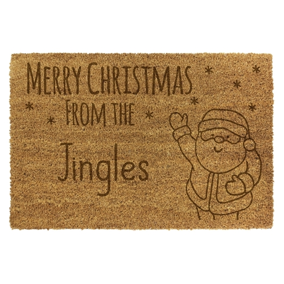 Picture of Personalised Christmas Laser Coir - Santa  40x70cm