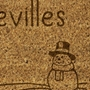 Picture of Personalised Christmas Laser Coir - Snowman  40x70cm