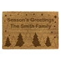 Picture of Personalised Christmas Laser Coir - Trees  40x70cm
