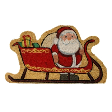 Picture of Shaped Christmas Coir - Santa Sleigh 40x70cm