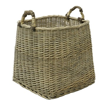 Picture of Square Antique Wash Log Basket