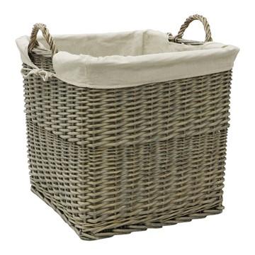Picture of Antique Wash Lined Log Basket