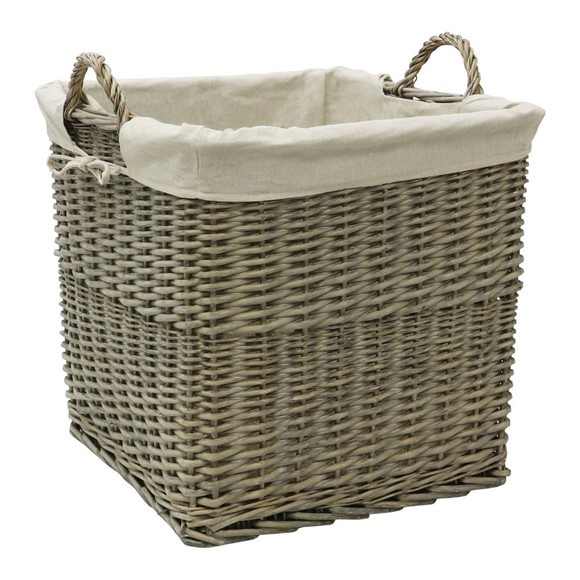 Picture of Antique Wash Lined Log Basket