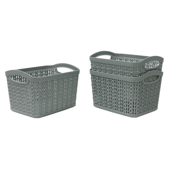 Picture of Set of 3 1.5L Loop Storage Baskets