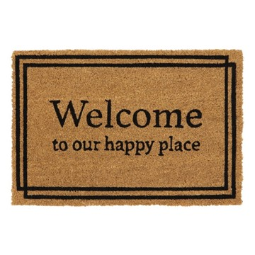 Picture of Happy Place Latex Coir Doormat 40x60cm
