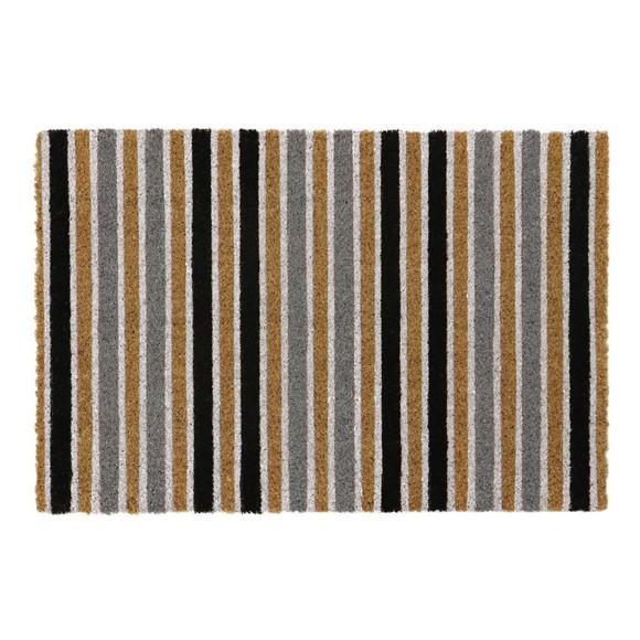 Picture of Grey Stripe Latex Coir Doormat 40x60cm