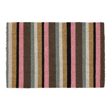 Picture of Pink Stripe Latex Coir Doormat 40x60cm