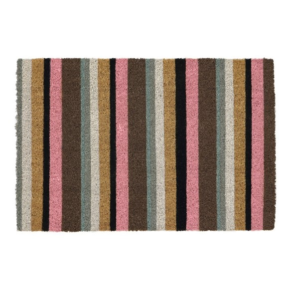 Picture of Pink Stripe Latex Coir Doormat 40x60cm