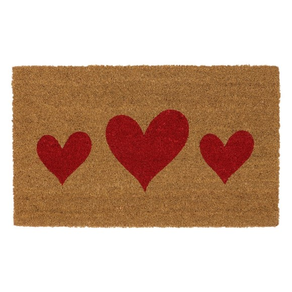 Picture of Heart Latex Coir Doormat 45x75cm