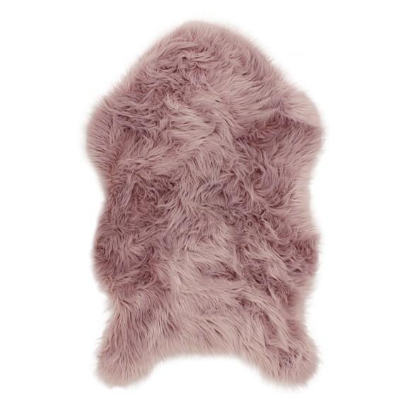 Picture of Alaska Faux Sheepskin Rug - Blush