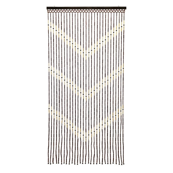 Picture of Provence Hanging Wooden Beaded Door Curtain Screen