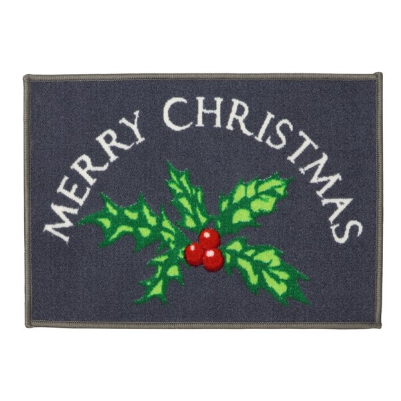 Picture of Christmas Machine Washable Mat  - Holly 40x60cm