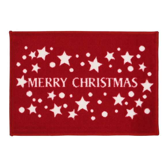 Picture of Christmas Machine Washable Mat  - Merry Christmas  40x60cm