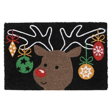 Picture of Christmas Coir - Reindeer 40x60cm
